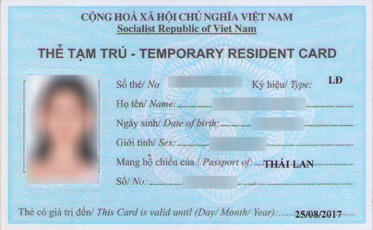 Information of temporary residence card trc trc can be seen as vietnam long term visa granted for foreign workers who have work permit foreign investors investing in vietnam or foreigners relatives yelopaper Choice Image